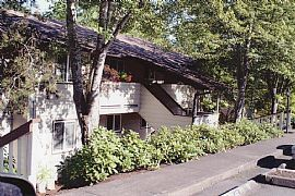 Unfurnished 2 BR, 1 BA Condo in Wooded Area